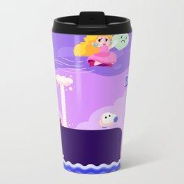 Tiny Worlds - Super Mario Bros. 2: Peach Metal Travel Mug