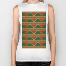 Africa-inspired pattern Biker Tank
