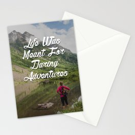 Hiking to Maroon Bells Stationery Cards