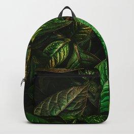 Golden Green Leaves Backpack