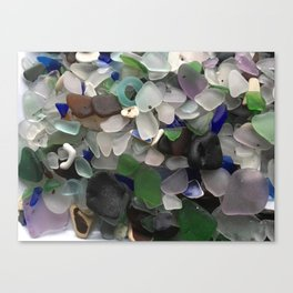 Sea Glass Assortment 3 Canvas Print
