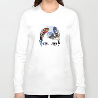 60s Long Sleeve T-shirts featuring '60s Eyes- Original Color by Katy Rose