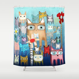 Bunch of Cats Shower Curtain