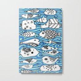 Fishy Friends Metal Print