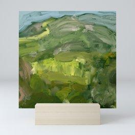Landscape 1 Mountains Farm Mini Art Print