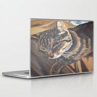 leo Laptop & iPad Skins featuring Leo by Lark Nouveau Studio