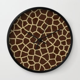 Giraffe Print Pattern Wall Clock