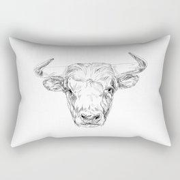 Bull illustration Rectangular Pillow