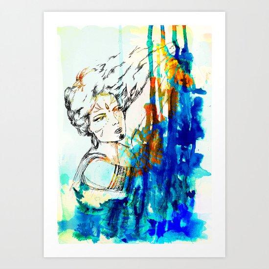 Tribal Beauty 4 Art Print