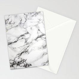 Greyish White Marble Stationery Cards