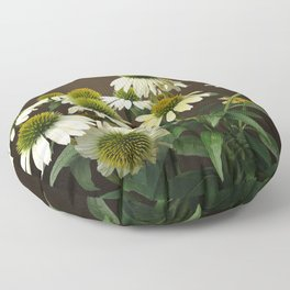 Wild White Coneflowers Floor Pillow