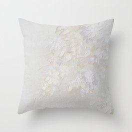 Flowers in white Throw Pillow