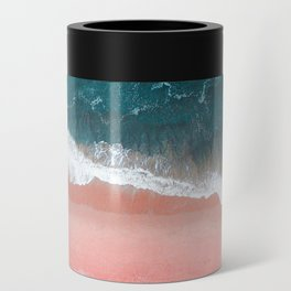Turquoise Sea Pastel Beach III Can Cooler