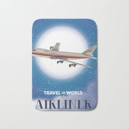 Travel the world by Airliner Bath Mat