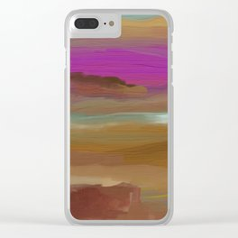 Southwestern Sunsets Landscape Clear iPhone Case