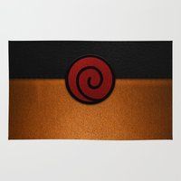 naruto Area & Throw Rugs featuring NARUTO by September 9
