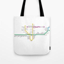 TTC Subway Map Tote Bag