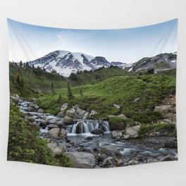 Edith Creek and Mount Rainier Wall Tapestry