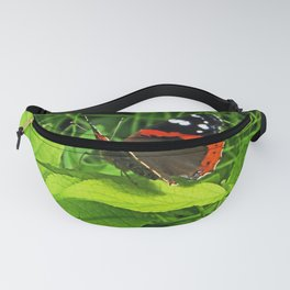 Red Admiral side view Fanny Pack