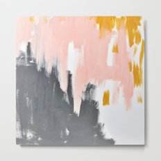 Gray and pink abstract Metal Print
