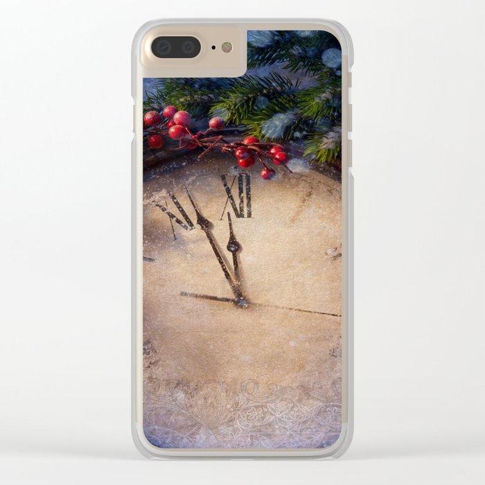 Frozen time winter wonderland Clear iPhone Case