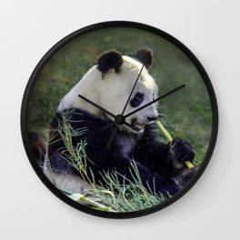 Panda breakfast Wall Clock