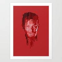 daryl Art Prints featuring Daryl by mobokeh