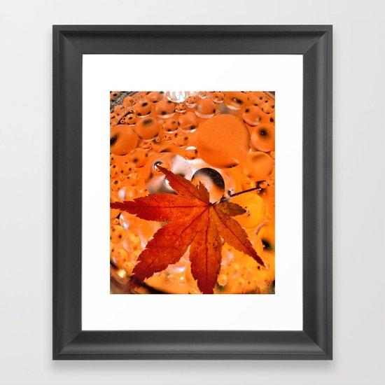 Maple Leave Framed Art Print