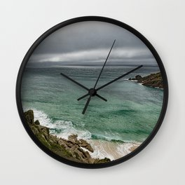 Stormy Cornish morning. Wall Clock