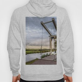 Canal and Bridge in Netherlands at Sunset Hoody