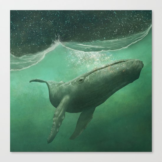 The Whale Canvas Print