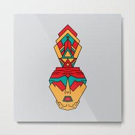 aztec ritual human Metal Print