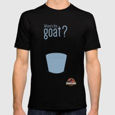 Jurassic Park  ¿Where's the goat? LARGE Black Mens Fitted Tee