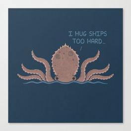 Monster Issues - Kraken Canvas Print