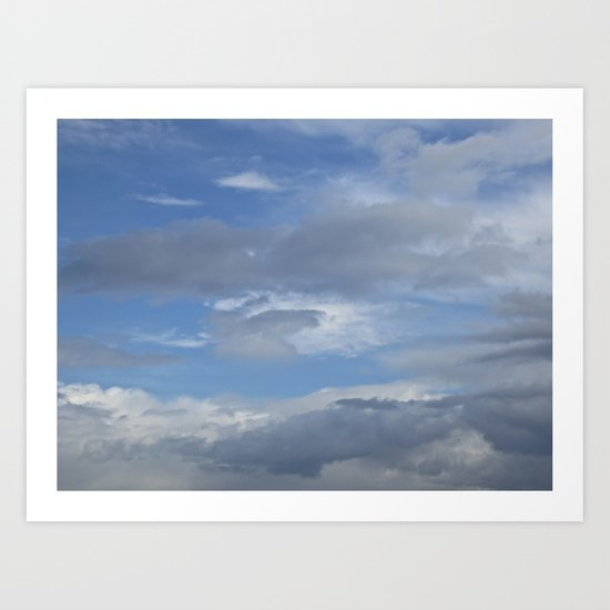 Distant clouds Art Print