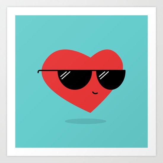 Cool Heart Art Print