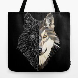Mixed Wolf Tote Bag