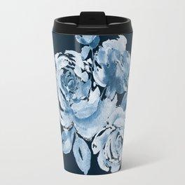 Country Rose on Indigo Travel Mug