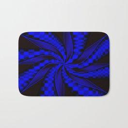 Checkers in Blue.... Bath Mat