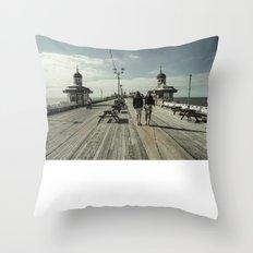 Blackpool North Pier Throw Pillow