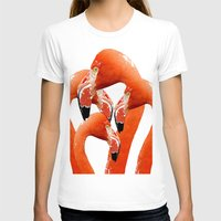 flamingos T-shirts featuring Flamingos by Regan's World