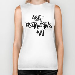 Self Destructive Art Biker Tank