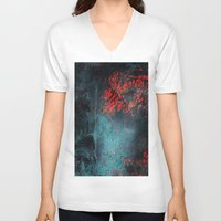 nightmare V-neck T-shirts featuring Nightmare by Tayler Smith