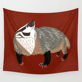 Western American Badger Wall Tapestry