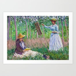 In The Woods At Giverny Art Print
