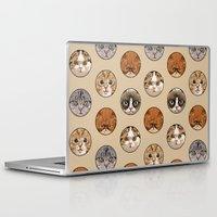 polka Laptop & iPad Skins featuring Polka Meaw by Huebucket