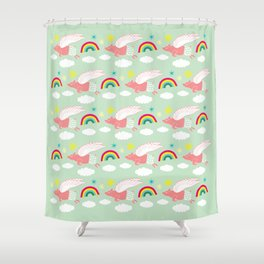 Pigs Can Fly! Shower Curtain