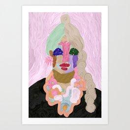 Original Artwork by Nina Sencar, Puppet Lady Pinko Art Print