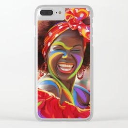 Life's a Carnival (Carnaval de Barranquilla) - Negrita Puloy Impressionism - Magical Realism Clear iPhone Case
