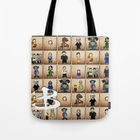 buffy the vampire slayer Tote Bags featuring Buffy the Vampire Slayer: Season One by BovaArt